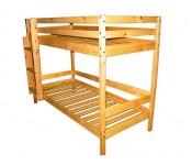 Dviaukštė medinė lova